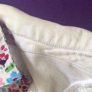 White Denim Sleeveless Jacket